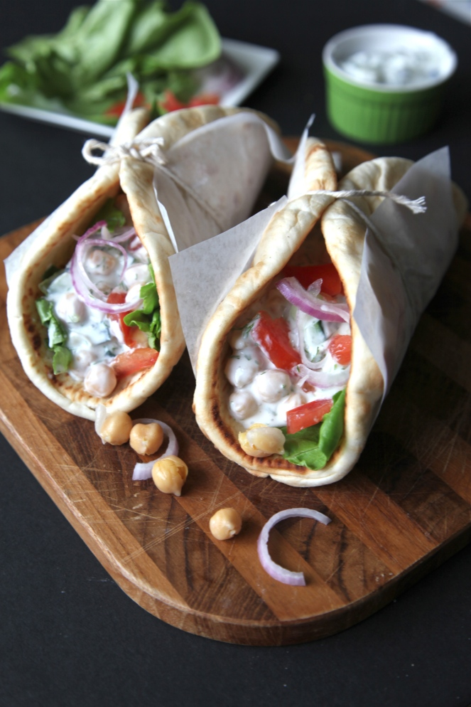 Cucumber Dill Chickpea Pita - Modern Little Victories