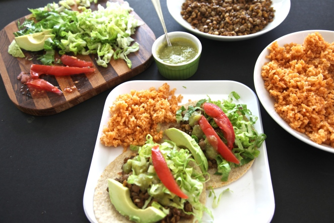 Lentil Tacos (Vegan + Gluten Free) - A delicious vegan take on traditional tacos. Loaded with flavor and protein you won't even miss the beef.